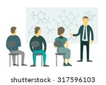 people sitting in the class on... | Shutterstock .eps vector #317596103