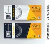 gift voucher concept back to... | Shutterstock .eps vector #317601503