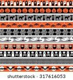 halloween borders | Shutterstock .eps vector #317616053