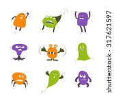 set of cute monsters for kids... | Shutterstock .eps vector #317621597