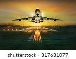 Passenger Plane Fly Up Over...