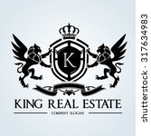 king real estate luxury crest... | Shutterstock .eps vector #317634983