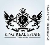 luxury vintage  crests logo... | Shutterstock .eps vector #317634983