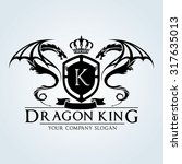 dragon king letter k luxury... | Shutterstock .eps vector #317635013