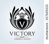 luxury vintage  crests logo... | Shutterstock .eps vector #317635223