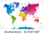 low poly world map | Shutterstock .eps vector #317647187