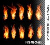 fire vectors on transparent... | Shutterstock .eps vector #317670287