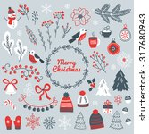 set of christmas design... | Shutterstock .eps vector #317680943