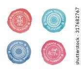 set of 4 colorful badges for... | Shutterstock .eps vector #317682767