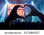 crowd audience the power of... | Shutterstock . vector #317684537