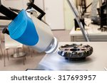 Small photo of Automatic tool with measuring module Multi Edge Measurement. Optical 3D robotic metrology
