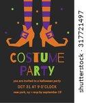 halloween costume party... | Shutterstock .eps vector #317721497