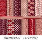 set of abstract vector paper...   Shutterstock .eps vector #317724407