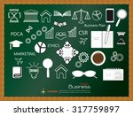 business concept icons ... | Shutterstock .eps vector #317759897