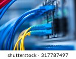 network cables installed in the ... | Shutterstock . vector #317787497