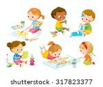 children's creativity | Shutterstock .eps vector #317823377