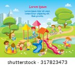 children playing in the playground | Shutterstock vector #317823473