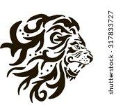 the lion pattern   Shutterstock .eps vector #317833727