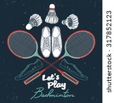 """let's play"" badminton set.... 