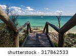 wooden stairs leading to a... | Shutterstock . vector #317862533