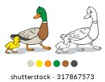coloring book or page. mother... | Shutterstock .eps vector #317867573