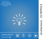 light bulb sign icon. idea...