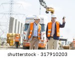 supervisors discussing at... | Shutterstock . vector #317910203