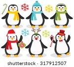 wintery penguins