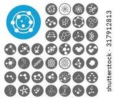 molecule icons set.... | Shutterstock .eps vector #317912813