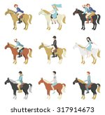 Horse Riding Lessons. Vector...