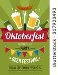 colorful vector oktoberfest... | Shutterstock .eps vector #317923493