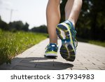 training woman and healthy... | Shutterstock . vector #317934983