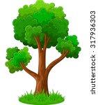 Green Tree Cartoon