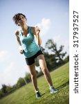 running woman  training and... | Shutterstock . vector #317937527