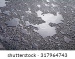 wet asphalt covered with... | Shutterstock . vector #317964743