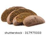 bread sliced on a white... | Shutterstock . vector #317975333