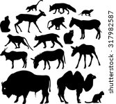 silhouettes of animals | Shutterstock . vector #317982587