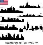 black vector silhouettes... | Shutterstock .eps vector #31798279