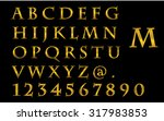 gold color fonts of alphabets... | Shutterstock . vector #317983853