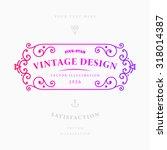 vintage frame for luxury logos  ... | Shutterstock .eps vector #318014387