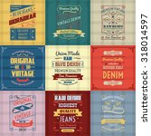 original authentic denim jeans... | Shutterstock . vector #318014597