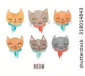 Stock vector cute cats in vector 318014843