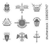 vintage heraldic coat of arms... | Shutterstock . vector #318020747