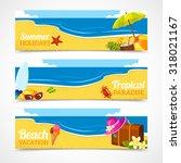 banner horizontal set of travel ... | Shutterstock . vector #318021167