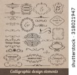 calligraphic design elements... | Shutterstock . vector #318021947
