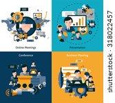 business meeting design concept ... | Shutterstock . vector #318022457