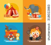 circus design concept set with... | Shutterstock . vector #318022883