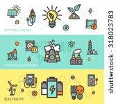 energy horizontal banner set... | Shutterstock . vector #318023783