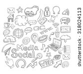 doodle social media decorative... | Shutterstock . vector #318024113
