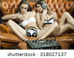 Two Sensual Young Glamour Dj...